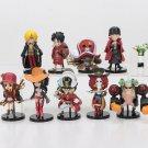 9Pcs/set One Piece Action Figures Luffy Zoro Nami Usopp Sanji Tony Chopper Nico Franky Brook