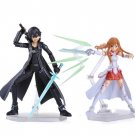 Sword Art Online Kirito & Asuna Action Figure Toys 15cm Kirito Kazuto Figma Asuna Figma