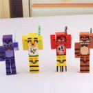 4pcs/set Minecraft Five Nights At Freddy's 4 FNAF Foxy Chica Bonnie Freddy Action Figures