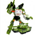 19cm New Arrival Big Classic Transformation Plastic Robot Cars Action Toy (Green Tank)