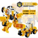 17.5cm New Arrival Classic luckyted excavator Transformation Robot Cars Action Toy (1)