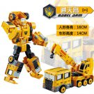 17.5cm New Arrival Classic luckyted excavator Transformation Robot Cars Action Toy (4)