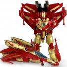 26cm Big Iron Man Hero aircraft Transformation Plastic Robot Deformation Kids Education Toy (Red)