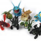 8pcs/set How To Train Your Dragon Toys Night Fury Toothless Anime Figures Toys