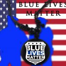 Blue Lives Matter4 Vintage Braided Woven Rope Leather Unisex Necklace Yak Bone Carved Logo