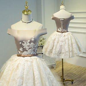 Hej!Fika Formal Party Dress Slash Neck Silver Ivory Off Shoulder Voile