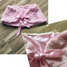 NWT Plus Size Light Pink Deluxe Bridal Wrap Faux Fur Shawl Shrug Bolero Ribbons