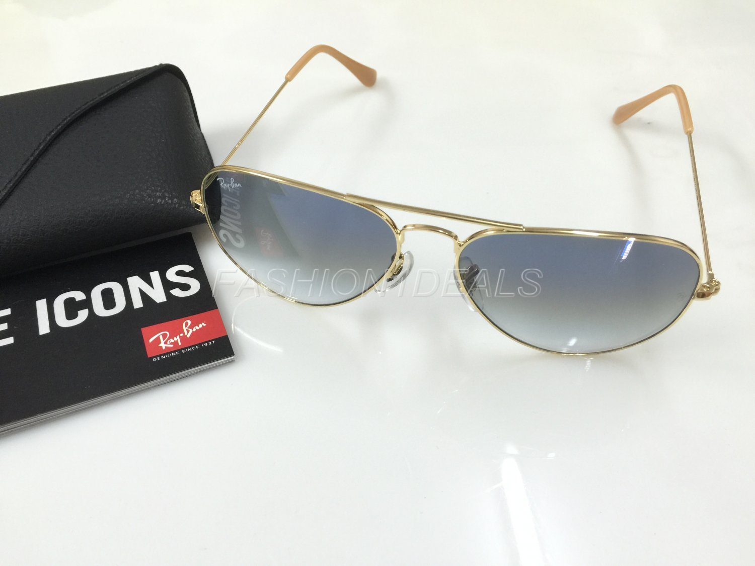 100% AUTHENTIC RAY BAN 3025 001/3F BLUEGRADIENT AVIATOR SUNGLASSES!