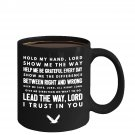 Cool Ceramic Coffee Mug - I Trust in You - Large Christian Cup (Black) - Best Gift for Him, Her