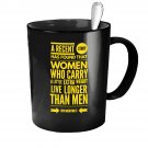 Funny Ceramic Coffee Mug - A Little Extra Weight - Cute Large Cup (Black) - Best Gift for Men, Women