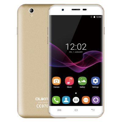 Oukitel U7 Max 3G Phablet 5.5 inch 2.5D Arc Screen Android 6.0 MTK6580 Quad Core
