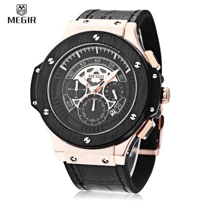 MEGIR 2035 Men Quartz Watch  -  GOLDEN