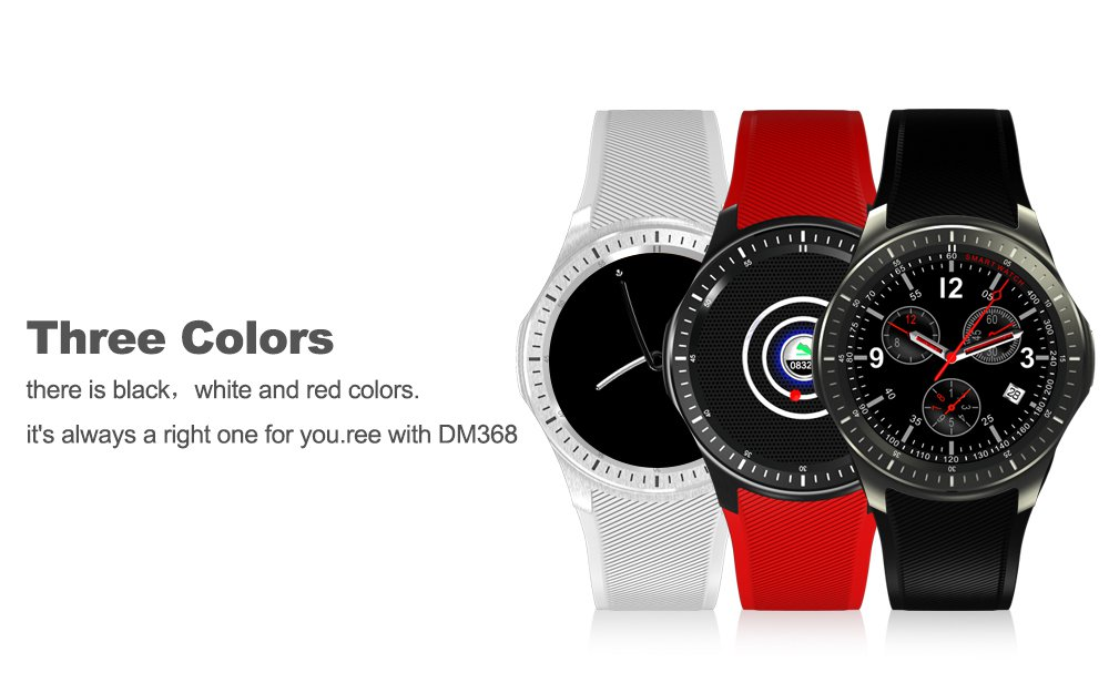 DOMINO DM368 1.39 inch Android 5.1 3G Smartwatch Phone MTK6580 1.3GHz Quad Core 8GB