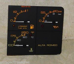 Alfa Romeo MILANO 75 Verde 3.0 Original VEGLIA FUEL OIL and TEMPERATURE Gauges