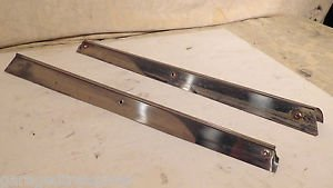 Alfa Romeo Spider Windshield A Pillar Stainless Steel Chrome Molding Strip Set