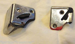 FIAT 124 SPIDER Right and Left door Jamb Edge Chrome Plates from 1984