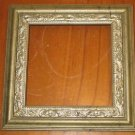 """Vintage Ornate 7"""" Square Silvertone/Goldtone Picture Photograph Frame Only"""