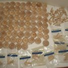 """78 New 1.5"""" 1 1/2"""" Rockler Wooden Toy Wheels w/Dowel Axles 156-Pc Lot Crafts"""