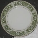 "Vintage Mikasa Fine China Coronet Green/White/Gold 6 1/2"" Bread & Butter Plate"