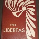 1966 Libertas Liberty NY High School Sullivan County New York Yearbook Free Ship