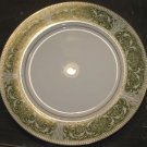 "Vtg Mikasa Fine China Coronet Green/White/Gold 10.25"" Dinner Plate Replacement"