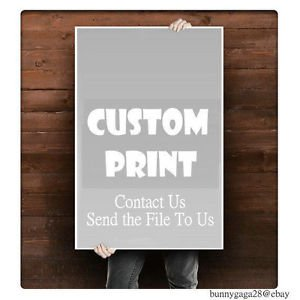 "Custom Silk Printed Poster ""Your Own Photo or Graphic Design"" 24"" x 36"" New"