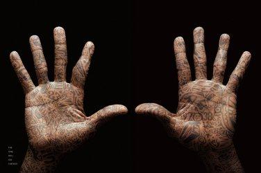 Michael Jordan Wings Hands Tatu Basketball Art Silk Poster Sport Picture New