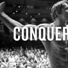 New Conquer Arnold Schwarzenegger Motivational Quote Body Building Silk Poster