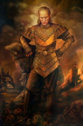 Vigo the Carpathian Art Portrait HD Print Oil Painting Style Fabric Silk Poster