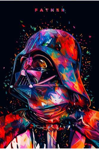 Star Wars Seven The Force Awakens Darth Vader Movie Silk Print Poster Brand New
