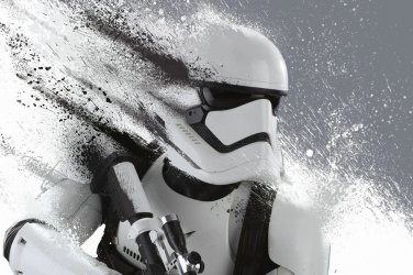 Star Wars Episode The Force Awakens Stormtrooper Movie Art Silk Printing Poster