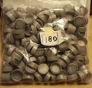 180 Grey Plastic Pop Caps, arts, crafts