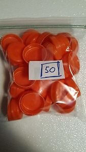 50 pcs Dark Orange Gatorade Caps