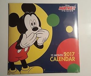 2017 Mickey Mouse Wall Calendar (Brand - New Sealed)