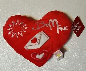 """Red """"Be Mine"""" Heart Pillow - Valentine's Day - New pillow puffs, plush"""