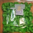 200 Light Green Bottle Caps - arts, crafts  FREE SHIPPING