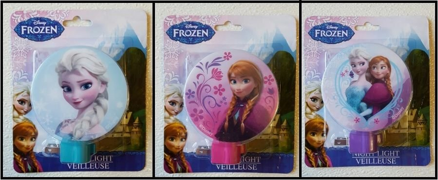 Disney Frozen Night Light with Switch - Anna, Elsa, Anna and Elsa     BRAND NEW