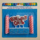 Decorative Happy Birthday Girl Candle - 639277079817