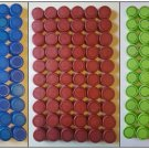 200 Plastic Pop Caps arts, crafts (60 Red 70 Blue 35 Dark Green 35 Light Green)