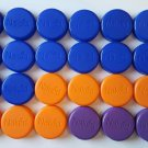 "32 Plastic Caps with ""Naked"" Logo - Arts Crafts Multi-Color"