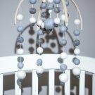 Felt ball baby mobile, baby nursery decor