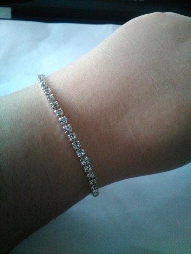Austrian crystal tennis bracelet