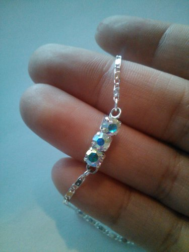 ab effect swarvoski crystal bracelet