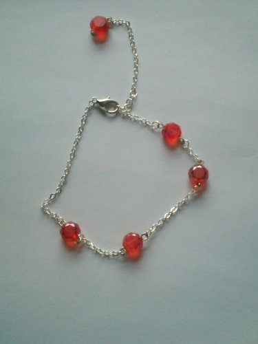 siam round swarvoski crystal and chain bracelet