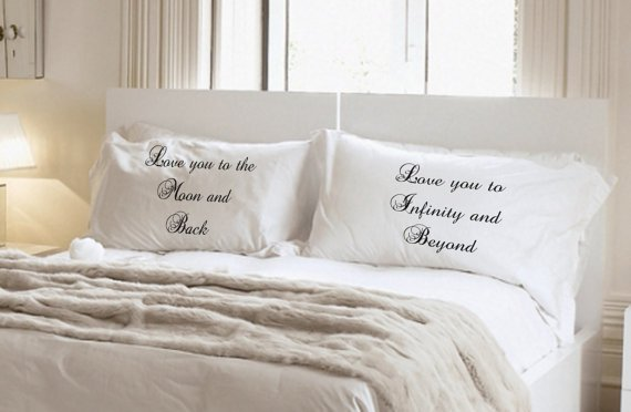 Love you to the Moon and Back Love you to Infinity and Beyond Pillowcase Set