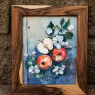 Apples and flowers - is extremely beautiful, handmade painting to decorate your home