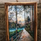Mysterious path in the woods - is extremely beautiful, handmade painting to decorate your home
