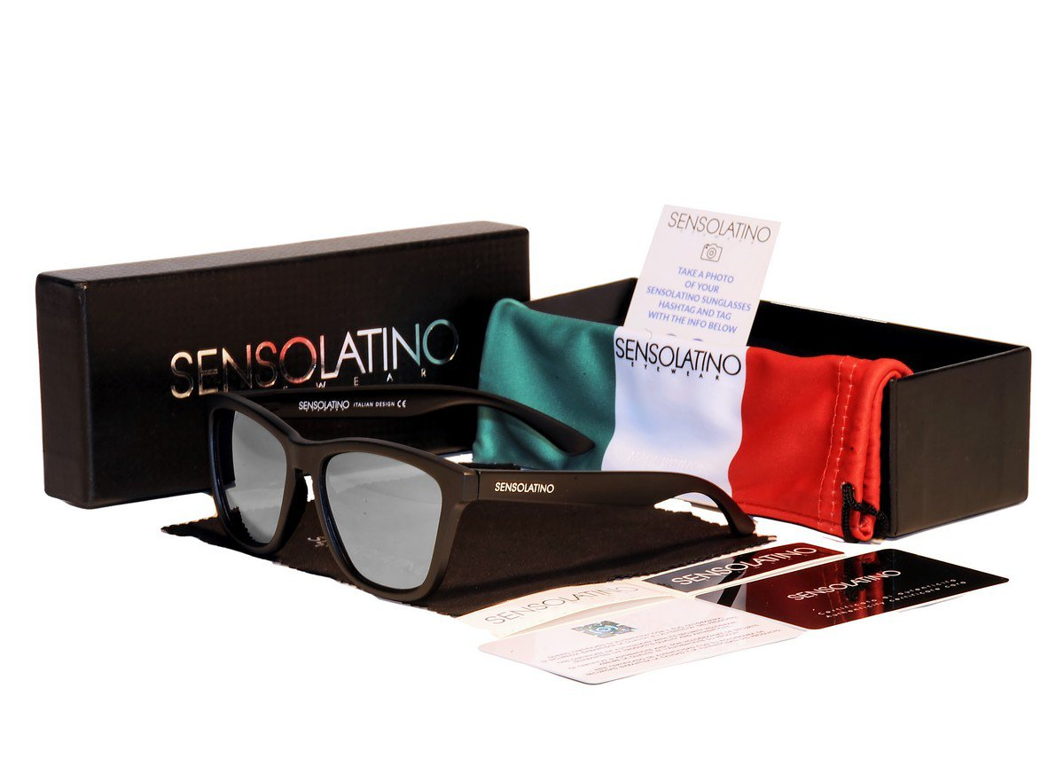 Sensolatino Italian Polarized Sunglasses Florence Silver