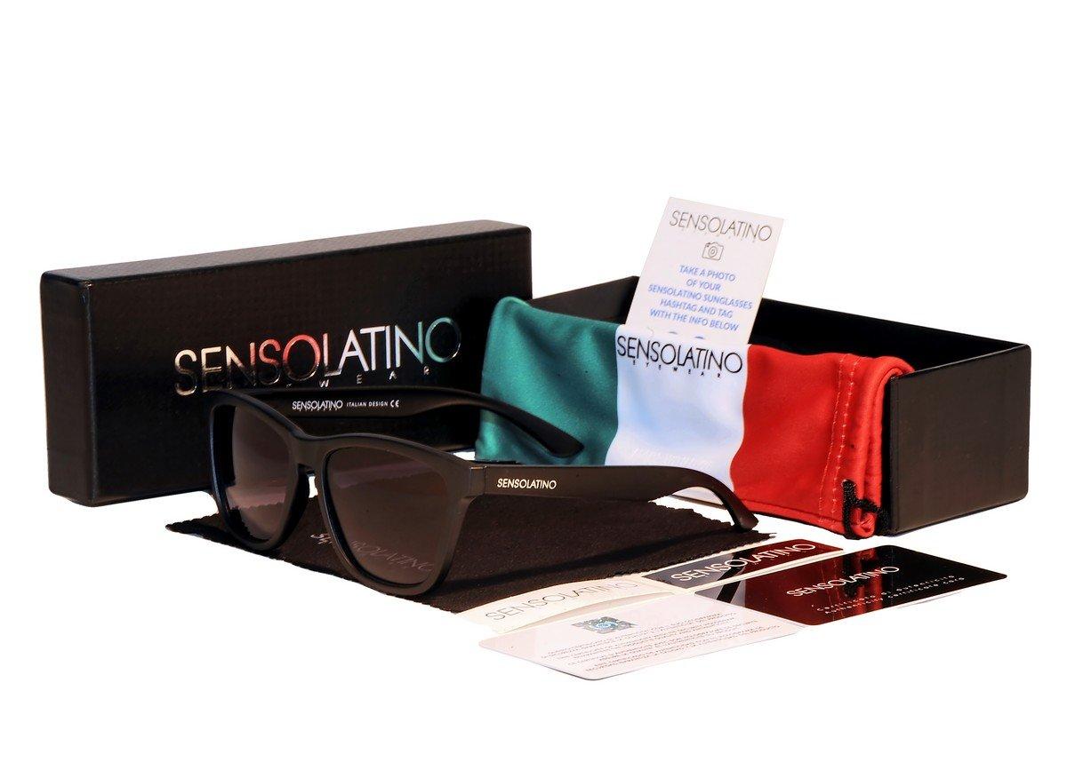 Sensolatino Italian Polarized Sunglasses Milan Black Gradient