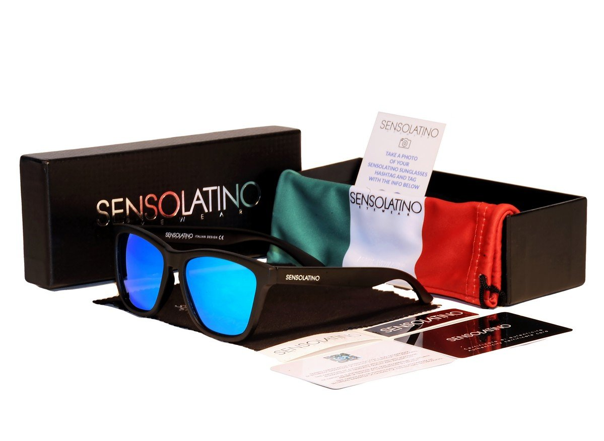 Sensolatino Italian Polarized Sunglasses Panarea Ice Blue